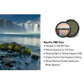 [70134]  Haida NanoPRO Multi-Coated | Ultra Wide Angle | 4 to 9 Stops | Screw-in Variable Neutral Density V-ND Filter77mm