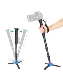 [45030] Neewer Extendable Camera Monopod with Foldable Tripod Support Base