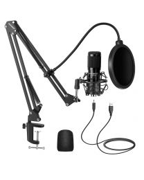 [74066] Neewer NW-8000 USB Microphone Kit, 192KHZ/24Bit Supercardioid Condenser Microphone with Boom Arm and Shock Mount