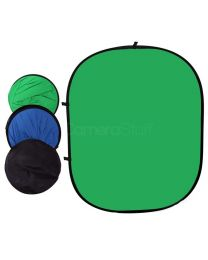 [87414] Collapsible 148x200cm Chromakey Green & Blue Double-Sided Backdrop + Stand & Holder Bundle