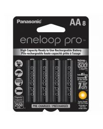 [71017] Eneloop Pro AA Rechargeable Ni-MH Batteries | 2,550mAh | 8-Pack