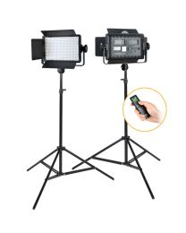 [81458] Godox Bundle | Dual Godox LED500W LED Panels + Stands Lighting Kit