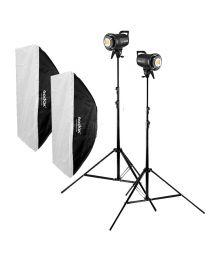 [83932] Godox Bundle | Dual Godox SL60W LED 60w +  Large Softboxes & Stands | Choose Size Softboxes