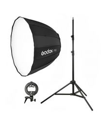 [81568] Godox Bundle | Single Parabolic Softbox (Choose 90cm or 120cm), Stand and S-Bracket Kit for Speedlights | Choose Your Gear