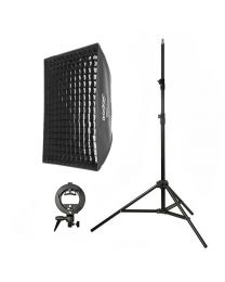 [81600] Godox Bundle | Single Folding Softbox 60x90cm, Stand and S-Bracket Kit for Speedlights