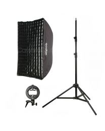 [81567] Godox Bundle | Single Umbrella Softbox (Choose 60x90cm, 95cm or 120cm), Stand and S-Bracket Kit for Speedlights | Choose Your Gear