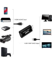 [70611] HDMI to USB2.0 Streaming Capture card | 1080p | 30FPS