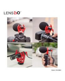 [70785] LensGo Shotgun Cardioid Microphone | LYM-DMM1 | For Smartphones (TRRS) & Cameras (TRS)  | Maximum Distance: 3 meters