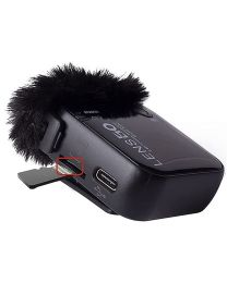 [74056] Lensgo LWM-348C 2.4G Wireless Microphone | Supports TF Card with Charging Case (Single Receiver)