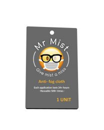 [70923] Mr. Mist Anti-Fog Cloth for Glasses | Reusable 500+ Times