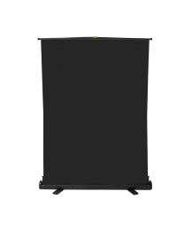[70575] Pull-Up Hydraulic Free-Standing Backdrop | 120x200cm | Black