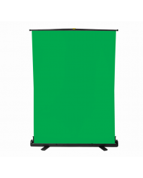 [70573] Pull-Up Hydraulic Free-Standing Backdrop | 120x200cm | Chroma-Key Green
