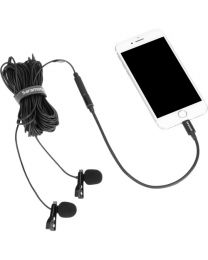 [70886] Saramonic Lavmicro U1C Clip-on Dual Lavalier Microphone with Lightning Connector for iOS devices
