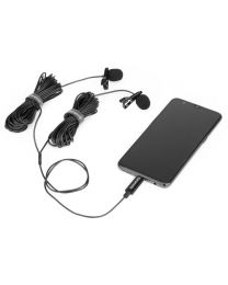 [73000] Saramonic LavMicro U3C Clip on Dual Lavalier Microphone for Android USB-C devices