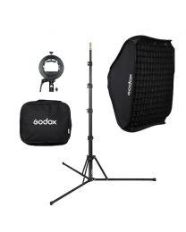 [81564] Godox Bundle | Single Folding Softbox, Grid, Stand and S-Bracket Kit | Choose 60cm or 80cm