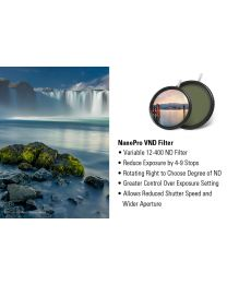 [70349] Haida NanoPRO Multi-Coated | Ultra Wide Angle | 4 to 9 Stops | Screw-in Variable Neutral Density V-ND Filter 72mm