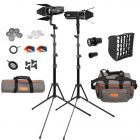[89529] Godox Bundle | 2 x Godox S30 Focus LED Continuous Lights + Accessories + 1 x Lens | Choose 63mm, 85mm or 150mm