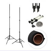 [86300] Single Paper Backdrop + Backdrop Stands Bundle | One 2.72x10m Paper Backdrop + Reeling Chain Pulley System | Choose Colour