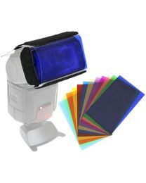 [70571] Queenie Speedlight Gel and Velcro Holder Kit | Includes 12 Colour Filters