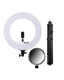 [88364] Ring Light + Stand Bundle: 18-inch Bi-Colour LED 100w + Light Stand
