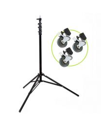 [86529] Light Stand & Wheels Bundle | 2.8m Air-Cushioned Light Stand with Set of 3 Casters