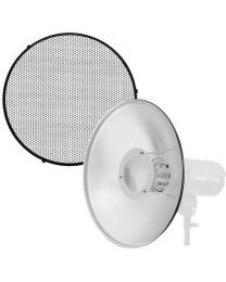 [88512] 42cm Beauty Dish + Honeycomb + Diffuser Cloth Bundle (Bowens Mount)