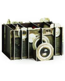 [70079] Artful Stationary Organizer: Vintage Camera (Cardboard, Assembly Required)