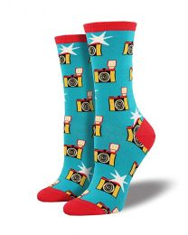 "[70076] Socksmith Womens' Novelty Crew ""Pop-arazzi""  Socks (1 pair)"