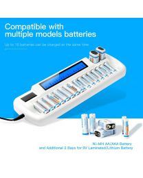 [80126] Vivipow 16-Bay AA Smart-Charger + 16 Eneloop PRO 2,550MAh Rechargeable AA Batteries Bundle