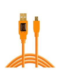 [11602] TetherTools USB 2.0 Mini-B 5-pin Cable 15ft/4.6m (ORANGE) CU5451