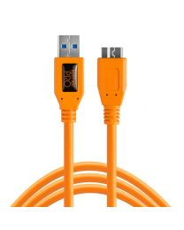 [11601] TetherTools USB 3.0  Micro-B Cable 15ft/4.6m (ORANGE) CU5454