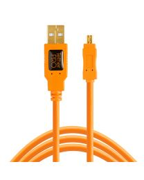[11603] TetherTools USB 2.0 Mini-B Cable 15ft/4.6m (ORANGE) CU8015