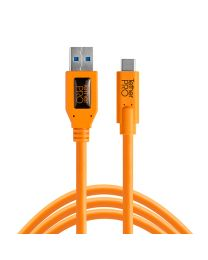 [11604] TetherTools USB 3.0 USB-C Cable 15ft/4.6m (ORANGE) CUc3215