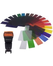 [70464] Puluz Speedlight Colour Filter Gel Kit | 20 Gels |  SiGi SG200
