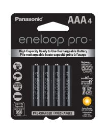 [79658] Eneloop Pro AAA Rechargeable Ni-MH Batteries | 950mAh | 4-Pack