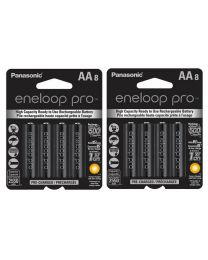 [83856] Eneloop Pro AA Rechargeable Ni-MH Batteries | 2,550mAh | 16 Pack (2 x 8-Packs)