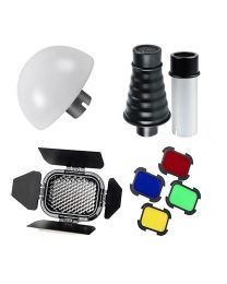 [88621] Godox Bundle | AD200 Flash Modifier Kit | AD-S9 Snoot + AD-S17 Wide-Angle Diffuser + BD-07 Barndoor Kit