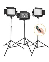 [81442] Godox Bundle | Triple Godox LED500W LED Panels + Stands Lighting Kit
