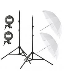 [81562] Godox Bundle | Dual Umbrella, Stand and S-Bracket Kit for Speedlights | Choose Your Gear