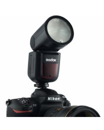[65523]  Godox V1-N TTL Li-Ion Round Head Camera Flash for Nikon