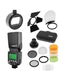 [84187] Godox Bundle: Godox V860-II Li-Ion TTL Flash Kit + AK-R1 Magnetic Flash Modifier Kit + S-R1 Attachment