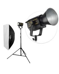[84001] Godox Bundle | Godox VL200 200W LED + Large Softbox & Stand | Choose Size Softbox