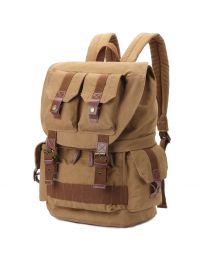 [70317] Multifunction Canvas Backpack Shoulders Bag Cameras 45x33x20cm (Khaki)