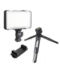 [87666] Godox Bundle | LEDM150 Compact LED, Smartphone Holder + MT-01 Mini Desktop Tripod
