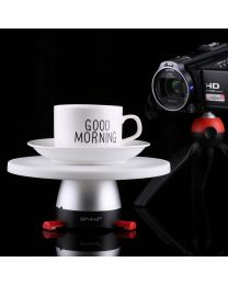 [70322] PULUZ Electronic 360 Degree Rotation Panoramic Tripod Head (with removable 18cm Platform)