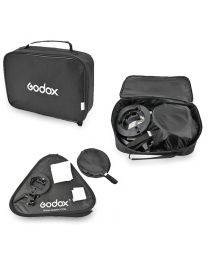 [81564] Godox Bundle | Single 60x60cm Folding Softbox + Grid, Stand and S-Bracket Kit for Speedlights