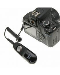 [88412] JJC Wired 30cm Shutter Release | Choose for Canon, Nikon, Fujifilm, Sony, Pentax, Olympus, Leica or Panasonic
