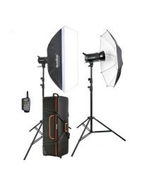 [79781] Godox Bundle | Studio Strobe Lighting Kit | SKII300-D 2 x Godox SK-300II 300w/s + Stands, Umbrella, Softbox, Bag & Trigger