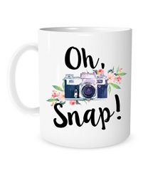 "[70049] ""Oh, Snap!"" Camera Design Coffee Mug"