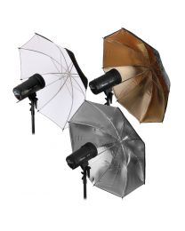 [89475] Umbrella Bundle | 3 x Lighting Umbrellas (Silver, White, Gold Reflective) | Choose between 84cm and 109cm
